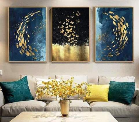 Beautiful Living Room Interior Design Space With Art Works