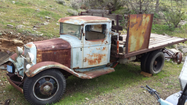 1934 Ford Truck 1 Ton Flat Bed Original For Sale Photos
