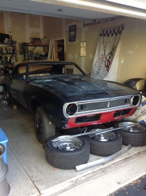 1968 Camaro Project Car Ready To Finish Rust Free Roller