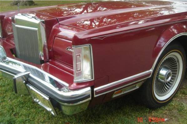 1977 Lincoln Continental Mark V Coupe Car in BurgundyPink