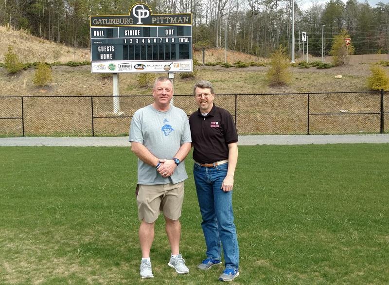 Coach Travis Hart and Jack Warren