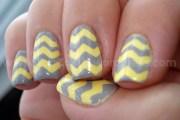 chevron nail tutorial top coat