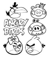 Angry Birds coloring page