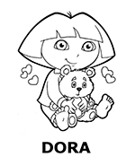 Colouring books with Dora