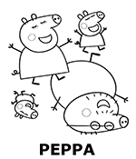 Peppa the Pig coloring page