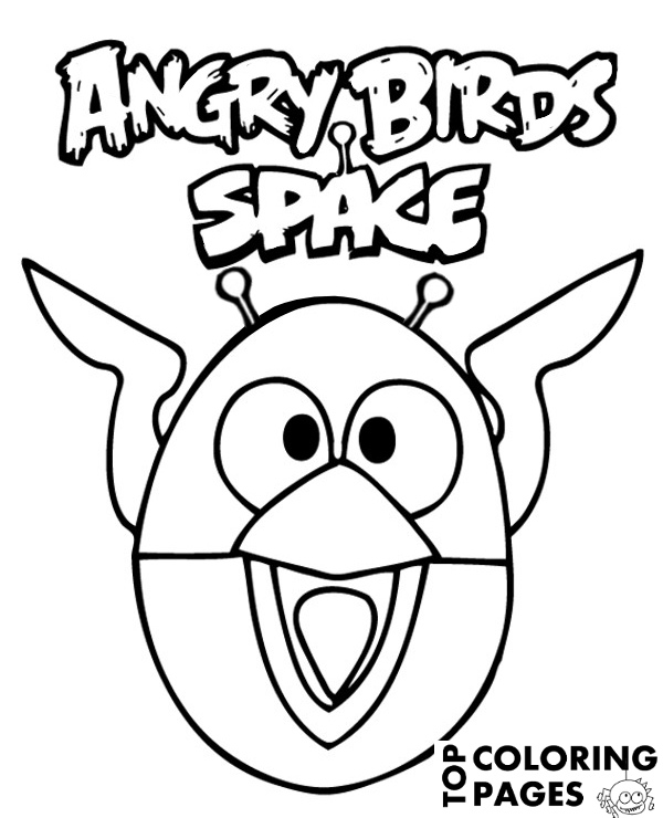 High-quality Angry Birds Space to print for free