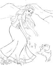 Barbi with dog mini