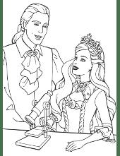 Prince and princess colouring book