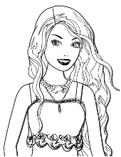 Barbie coloring pages to print for free