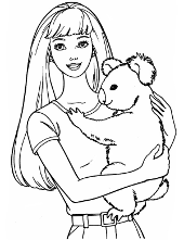 Barbie with koala
