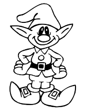Elf coloring books