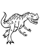 Dangerous dinosaur coloring page