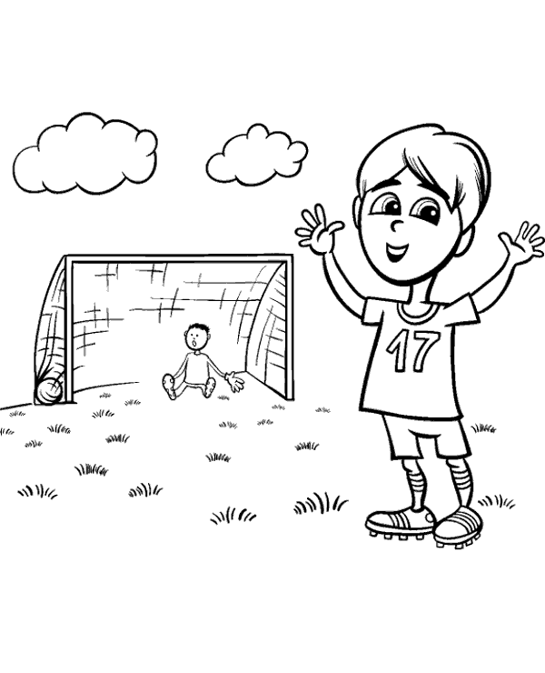 High-quality Football coloring books 1 to print for free