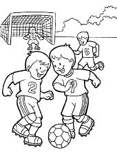 Football coloring pages for children soccer pictures