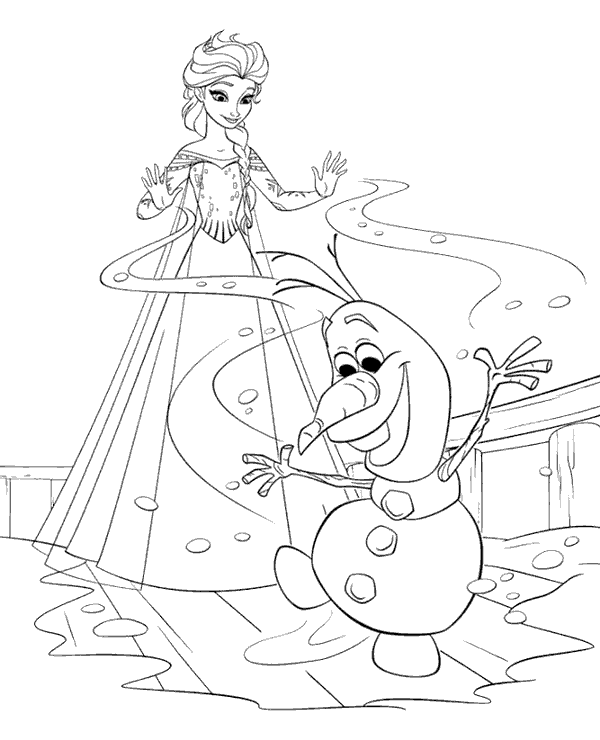 Frozen colouring page 24 to print or download for free