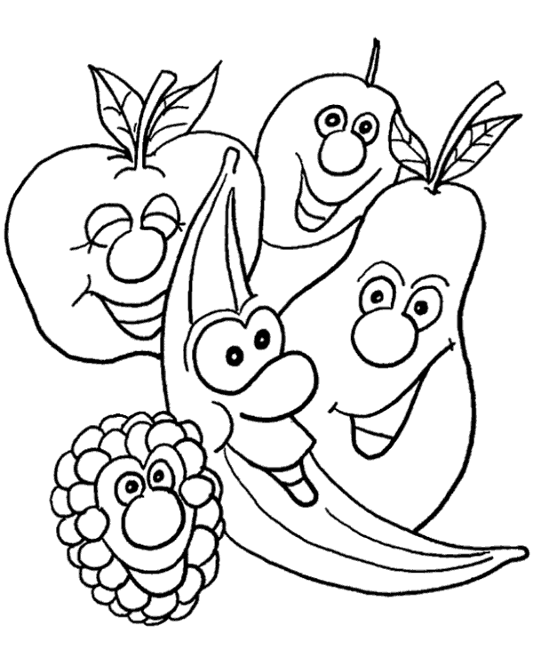 Fruits colouring page 22 to print or download for free