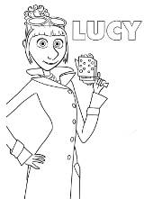 Lucy coloring book to print