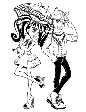 Monster High printable pages to color