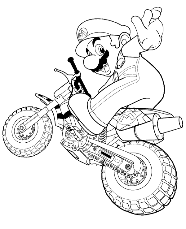 Motorbikes colouring pages 19 to print and color for free