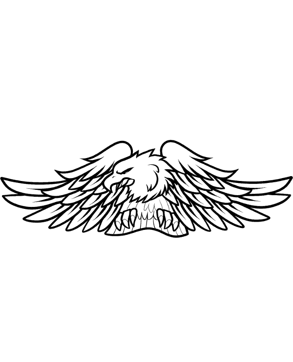 High-quality Motorcycle club logo eagle to print for free