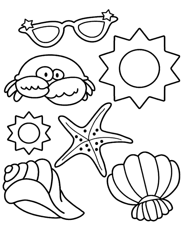 Summer colouring books 16 to print or download for free