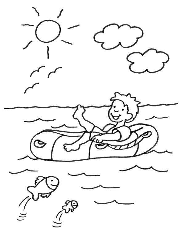 High-quality Summer colouring books 17 to print for free