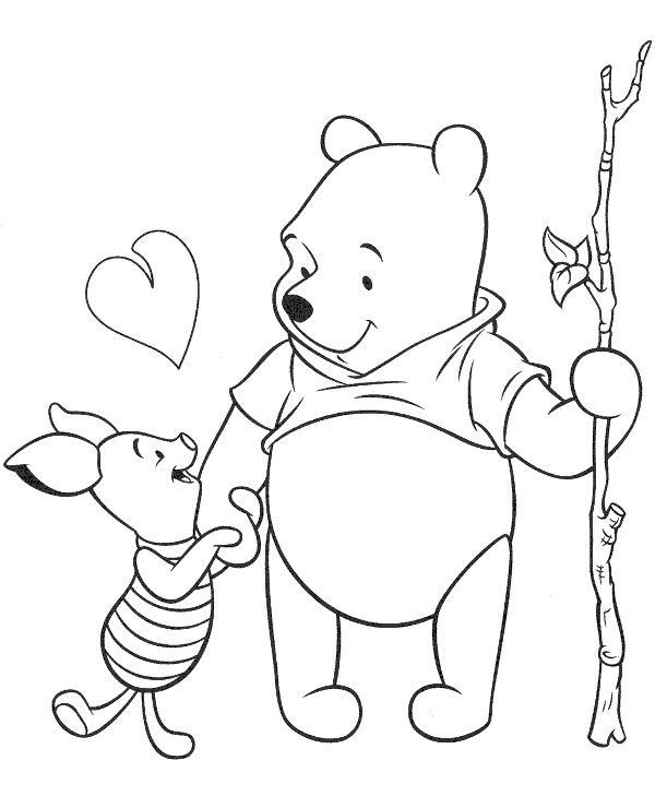 High-quality Winnie the Pooh colouring books 20 to print