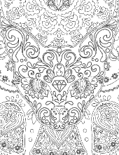 Set of coloring page for adults
