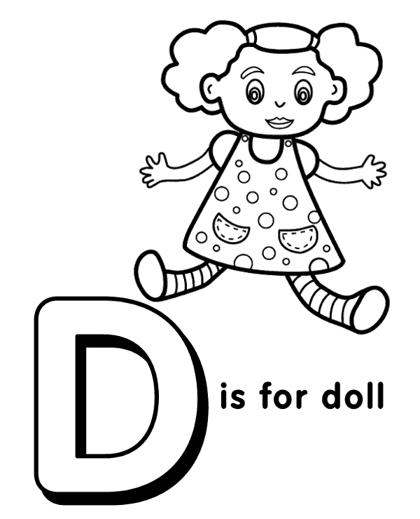 For Letter D Doctor Coloring Pages