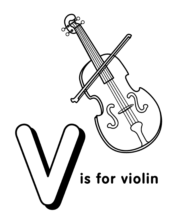 High-quality Letter v to print for free