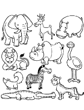 Animals coloring pages for children coloruring books