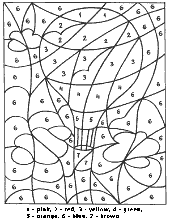 Baloon coloring page