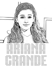 Image to color Ariana Grande