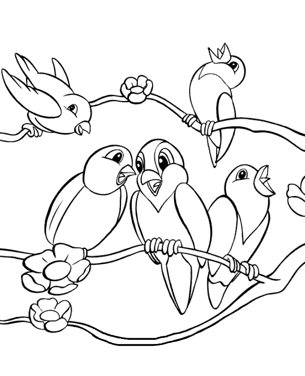 high quality cartoon birds