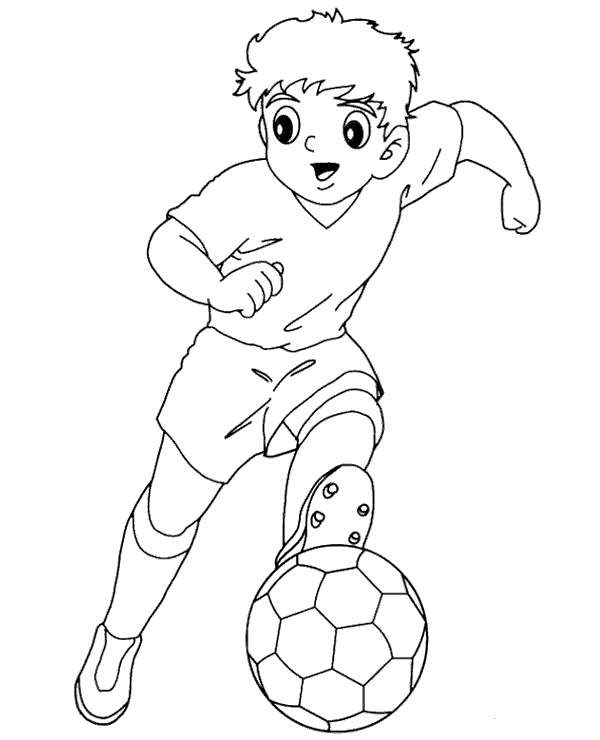 Football colouring page 23 to print or download for free