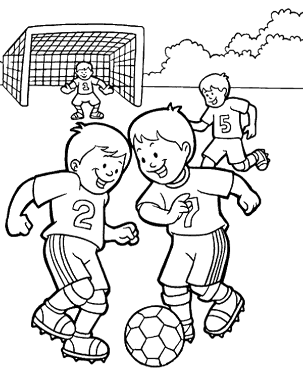 Football Kicker Coloring Page Coloring Pages