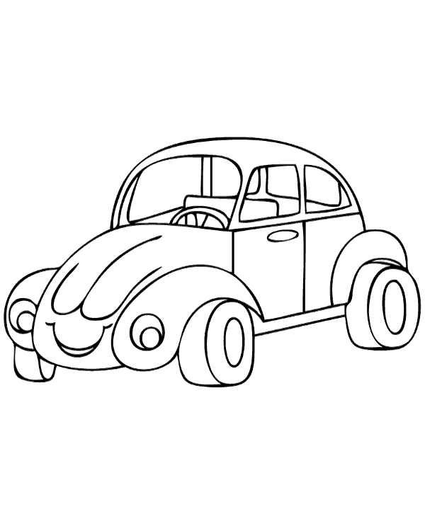 High-quality Volkswagen Beetle coloring pages to print for