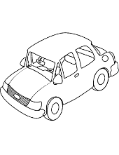 Car coloring page for boys