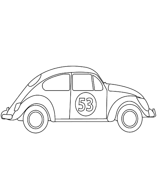 High-quality Racing version VW Beetle to print for free