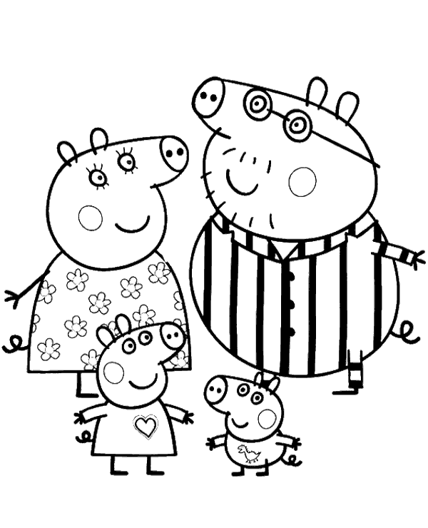 High-quality Peppa colouring books 20 to print for free