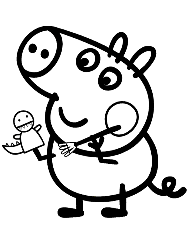 Peppa colouring page 21 to print or download for free