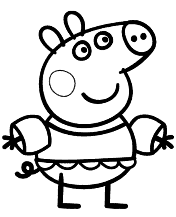 Peppa colouring page 23 to print or download for free