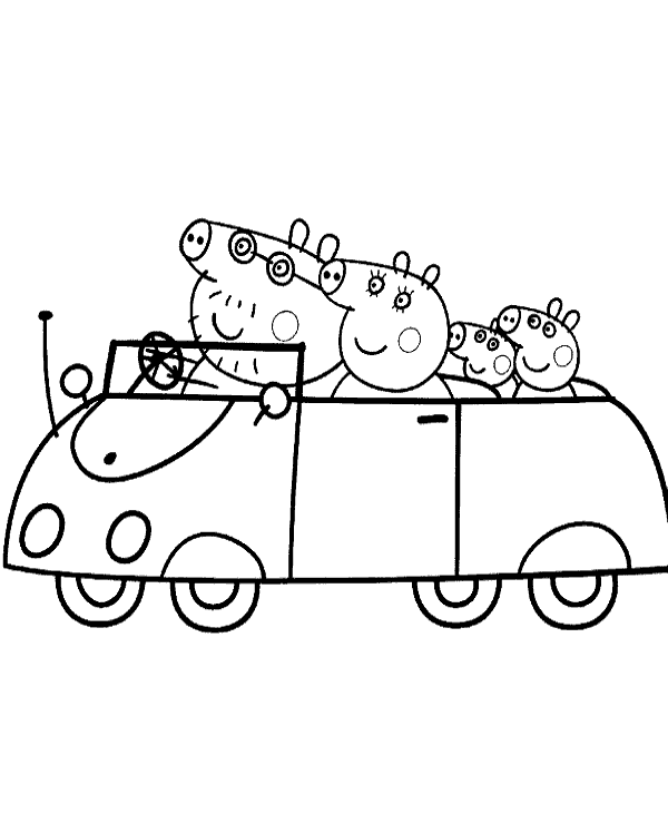 Peppa colouring pages 29 to print or download for free