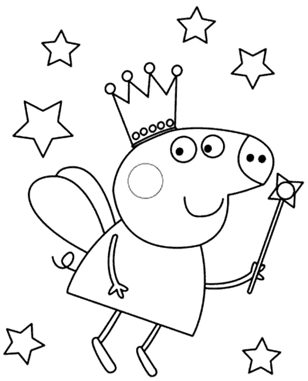 High-quality Peppa colouring pages 30 to print for free