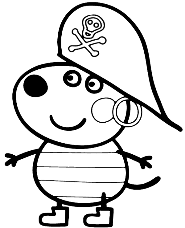 Peppa Pig Suzy Sheep Coloring Pages