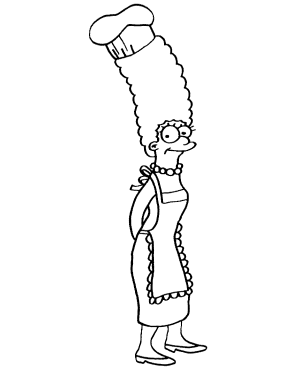 High-quality Marge Simpson coloring book to print for free