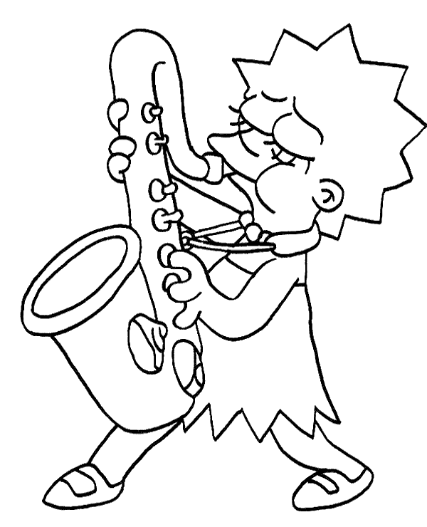 coloring pages of lisa - photo#19