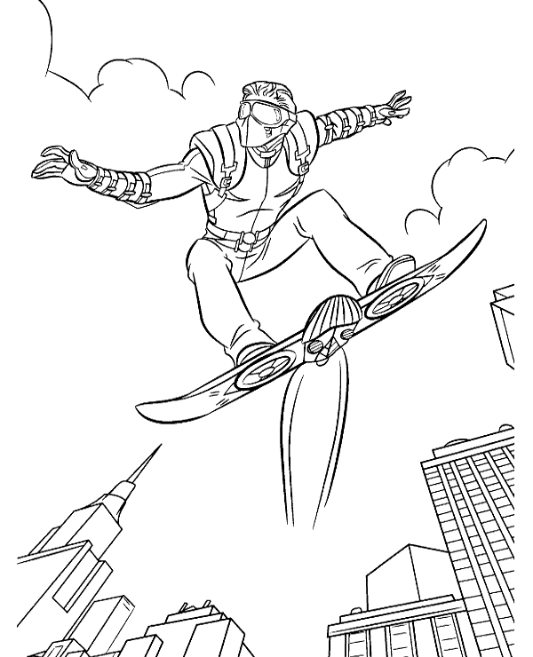 High-quality Spiderman's enemy coloring pages to print for