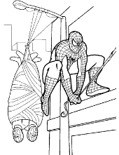 Spiderman coloring pages, pictures sheets, Peter Parker