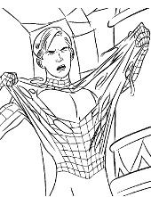 New Spider-Man coloring pages, pictures sheets, Peter Parker